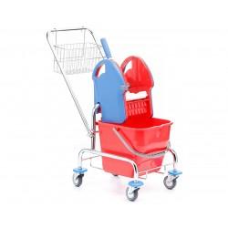 Wózek do sprzątania chromowany