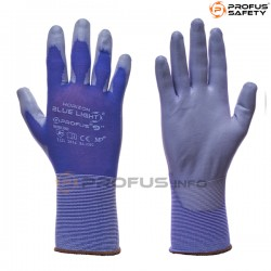 Rękawice powlekane poliuretanem Blue Light