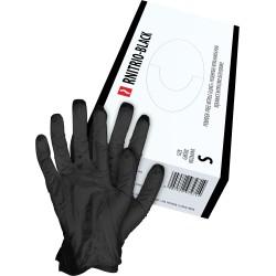 Rękawice nitrylowe cienkie RNITRIO Czarne