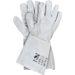 Rękawice spawalnicze ze skóry dwoinowej białe