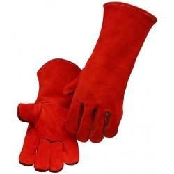 Rękawice spawalnicze z dwoiny czerwonej do spawania gazowego MIG