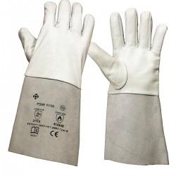 PSW-1150 Rękawice spawalnicze do TIG- biały mankiet